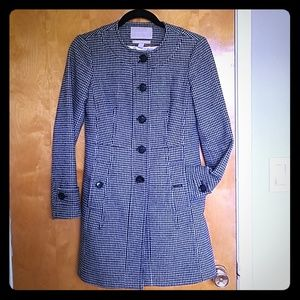 Banana Republic houndstooth peacoat
